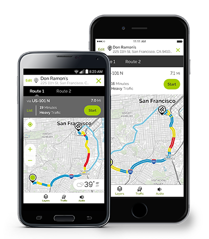 MapQuest alternative routes feature